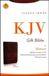 KJV Gift Bible, Leathersoft Rich Auburn