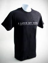 I Love My Wife Shirt, Small (36-38)