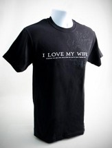 I Love My Wife Shirt, X-Large (46-48)