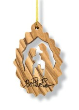 Nativity Olivewood Ornament