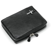 Genuine Leather Bible Cover, Black, XX-Large