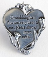 Granddaughter You Are Dear Visor Clip