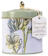 Dome Tin Candle, Freesia and Apricot, 8 ounce