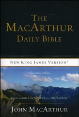 NKJV MacArthur Daily Bible Softcover Repackage - Slightly Imperfect