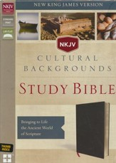 NKJV, Cultural Backgrounds Study Bible, Bonded Leather, Black, Thumb Indexed