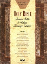 KJV Family, Faith & Values, Heritage Edition, Giant   Print, Bonded Leather, White - Imperfectly Imprinted Bibles
