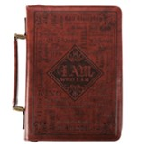 Names of God Bible Cover, Brown Lux Leather, Large