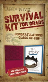 NIV 2016 Survival Kit for Grads, Pink