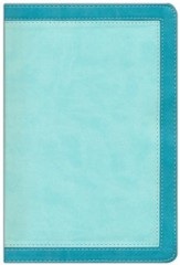 NIV Woman's Study Bible, Leathersoft Turquoise & Sea Foam Green Indexed - Imperfectly Imprinted Bibles