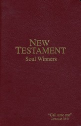 KJV Soul Winners New Testament Burgundy, Paper