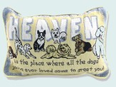 Dogs In Heaven, Tapestry Pillow
