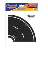 Asphalt Black Road Tape, 4 Inch Tight Curve