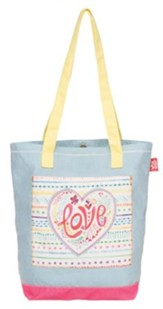 Love--Applique Tote Bag