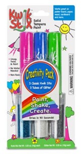 Kwik Stix Tempera Paint with Glitter Tube, Pack of 3