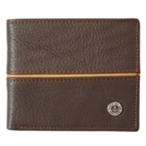 Hope As an Anchor Bi-Fold Wallet, Genuine Leather, Brown