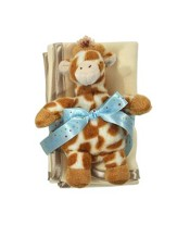 Satin Burp Cloth Set, Gentle Giraffe