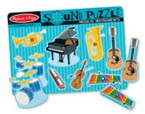 Musical Instruments Sound Puzzle, 8 pieces