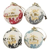 His Advent Names, Christmas Ornaments, Set of 4