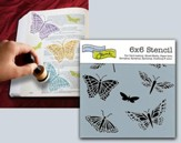 Mariposas Butterflies, Bible Journaling Stencil