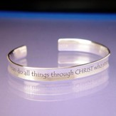 I Can Do All Things--Sterling Cuff Bracelet