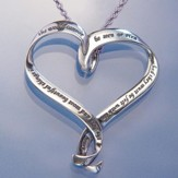The Best and Most Beautiful Things Heart Necklace