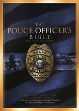 HCSB The Police Officer's Bible, bonded leather, black  - Imperfectly Imprinted Bibles