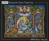 Stained Glass Nativity 1000 Piece Jigsaw Puzzle