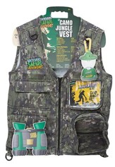 Back Yard Safari Cargo Vest, Jungle Camouflage