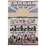 Tapestry Bible Cover, Faith, Hope, Love