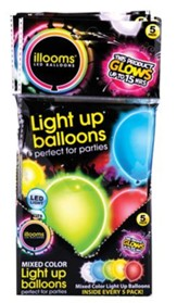 Illoom Light Up Balloons, Multi, Pack of 5