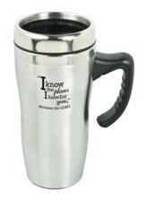 I Know the Plans Travel Mug with Handle
