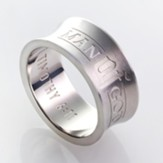 Man of God, Men's Stainless Steel Ring, Size 9