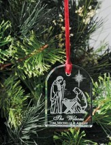 Personalized Crystal Nativity Ornament
