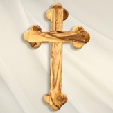 Eastern Olive Wood Wall Cross, Large