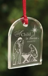 A Child Is Born, Crystal Ornament