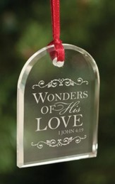 Wonders Of His Love, Crystal Ornament