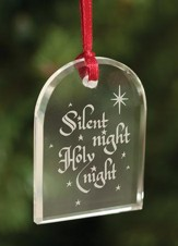 Silent Night, Crystal Ornament