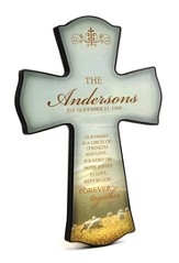 Personalized, Our Family Print Cross