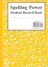 Yellow Student Record Book--Grades 6 and Up