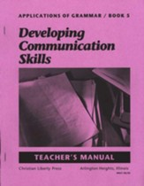 Applications of Grammar 5 Teacher's Manual, Grade 11
