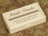 Personalized, God's Unfailing Love Wooden Box