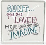 Aunt, You Are Loved Glass Block