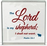The Lord is My Shepherd Table Top Plaque