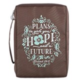 Plans To Give You Hope and a Future Bible Cover, Brown, Large