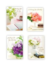 Lustrous Birthday Cards, Box of 12