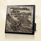 Moments of Faith Sculpture Plaque, Soar on Wings of Eagles