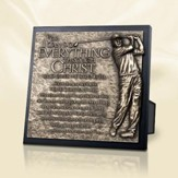 Moments of Faith Sculpture Plaque, Everything Through Christ, Golfer