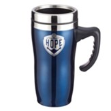 Hope, Stainless Steel Travel Mug, Blue