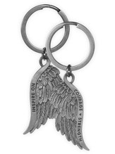 Courage and Strength, Feather Keyring