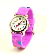 Hearts Child's Watch, Purple